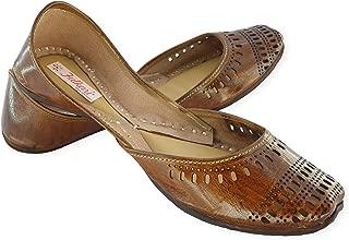 Fulkari Prime Pure Leather Casual Women's Soft Leather Bite and Pinch Free Ladies Jutti Ethnic Mojari