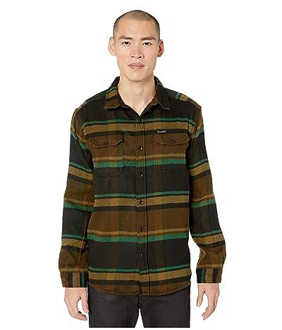 Columbia Deschutes Rivertm Heavyweight Flannel (Olive Green Oversized Check) Men