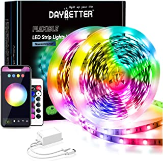 Daybetter 65.6ft WiFi Smart Led Lights with App Control...
