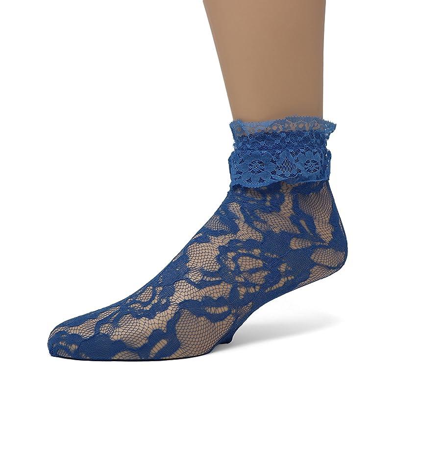 EMEM Apparel Women's Lace Anklet Socks with Ruffle