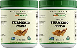 2 PK Best Naturals Certified Organic Turmeric Curcumin Powder 8.5 OZ (240 Gram), Non-GMO Project Verified & USDA Certified Organic (Total 480 Grams)