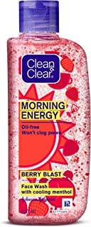 Clean & Clear Morning Energy Berry Blast Face Wash, Red, 150 ml