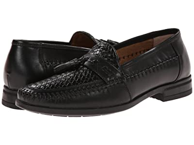 Nunn Bush Strafford Woven Moc Toe Loafer (Black) Men
