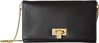 Women's Carmen Black Leather Mini Handbag Clutch