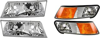 Newmar Mountain Aire 2001-2003 RV Motorhome Pair (Left & Right) Replacement Headlights Turn Signal Lights Lamps