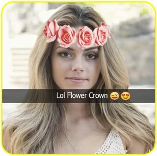 Snaping Flower Crown Filters & Emojis