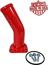 HD Thermostat Housing Water Neck For 1994-1997 Ford Powerstroke 7.3L Turbo Diesel Made In USA (Fire Engine Red)