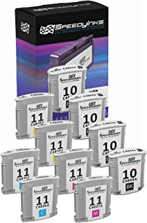 Speedy Inks Remanufactured Ink Cartridge Replacement for HP 11 (4 Black, 2 Cyan, 2 Magenta, 2 Yellow, 10-Pack)