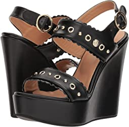 LOVE Moschino - Wedge Heel w/ Gold Accessories