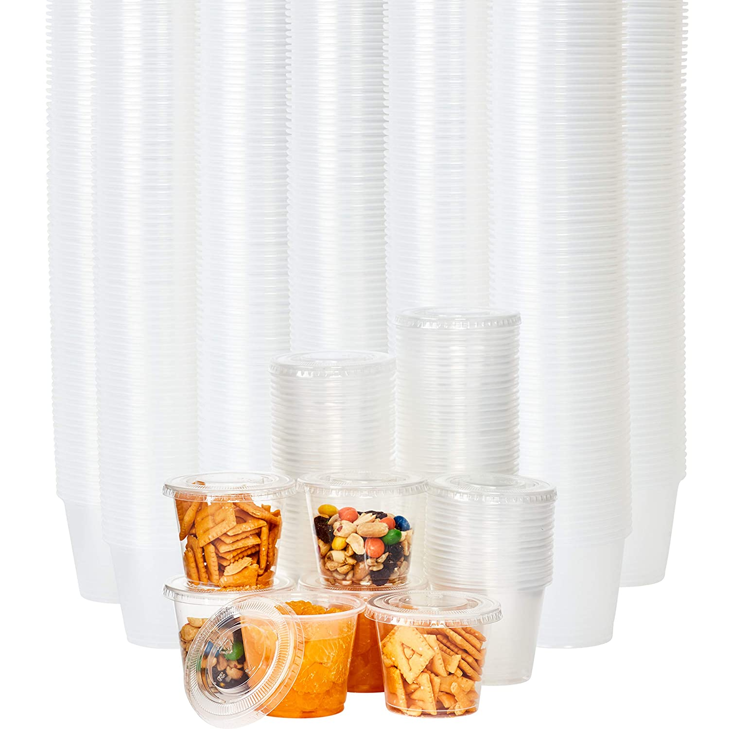 Leakproof BPA Free 5.5oz Souffle Cups and OFFicial store 500ct. Low price Lids Stackable