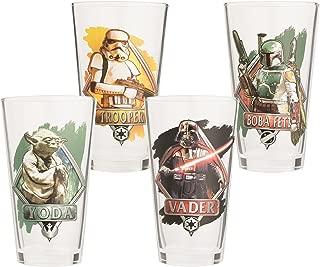 Vandor 99512 Star Wars 4 Piece 16 oz. Glass Set