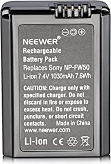 Neewer Replacement NP-FW50 1030mAh Battery for Sony Alpha 7 7R 7S A7II 7RII A6500 6300 6000 A5000 A3000 Alpha A5000 Alpha ...