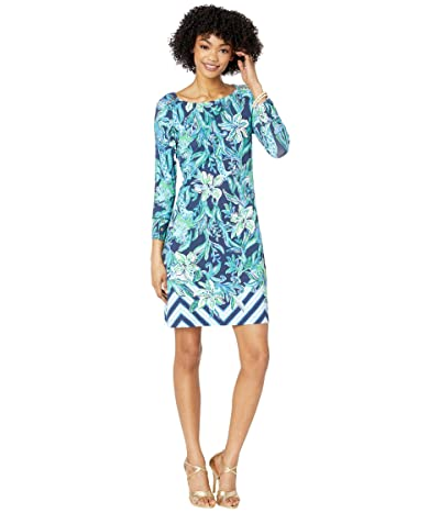Lilly Pulitzer UPF 50+ Sophie Dress (High Tide Navy Take It Or Leaf It Engineered) Women