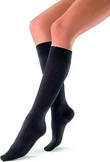 BSN Medical 120206 Jobst Sock, Knee High, Brocade, Closed Toe, 15-20 mmHG, Medium, Black