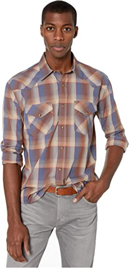 Navy/Rust/Red Plaid