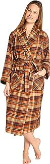 EVERDREAM Womens Flannel Robe, Shawl Collar Lightweight 100% Cotton Bathrobe
