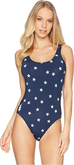 Star Over The Shoulder Tank One-Piece