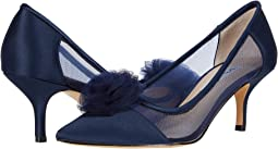 New Navy Luster Satin/Tulle/Mesh