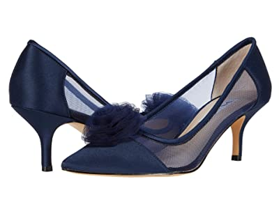 Nina Bettey (New Navy Luster Satin/Tulle/Mesh) Women