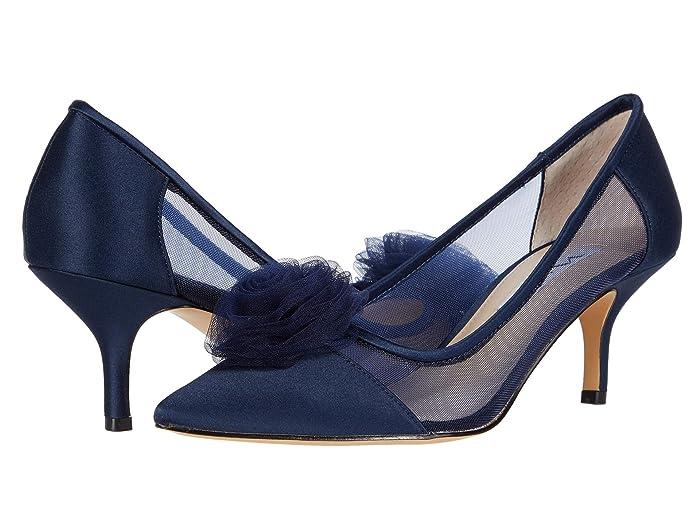 Nina  Bettey (New Navy Luster Satin/Tulle/Mesh) Womens Shoes