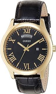 ساعة يد كوارتز للنساء من جيس بنمط عرض انالوج وسوار جلدي W0792G4