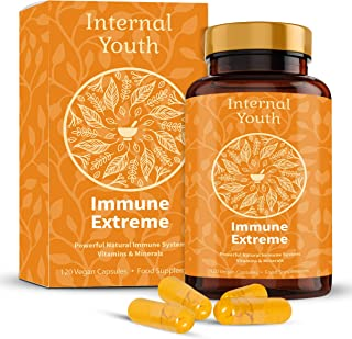 All-In-One High Strength Immune System Booster - Organic Turmeric and Black Pepper with Essential Vitamins Minerals and He...