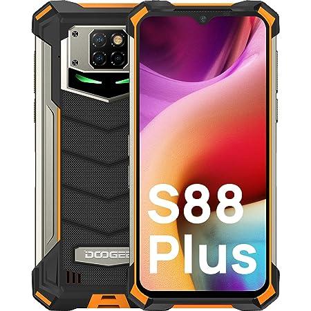 "DOOGEE S88 Plus [2021] Móvil Resistente, 8GB+128GB 6.3"" 1080P FHD 10000mAh Batería Moviles Antigolpes, Cámara Triples48MP IP68 IP69K Smartphone Resistente Agua y Golpes, 24W Carga Rápida, LED/NFC"