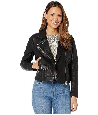 Blank NYC Faux Leather Moto Jacket (Black) Women