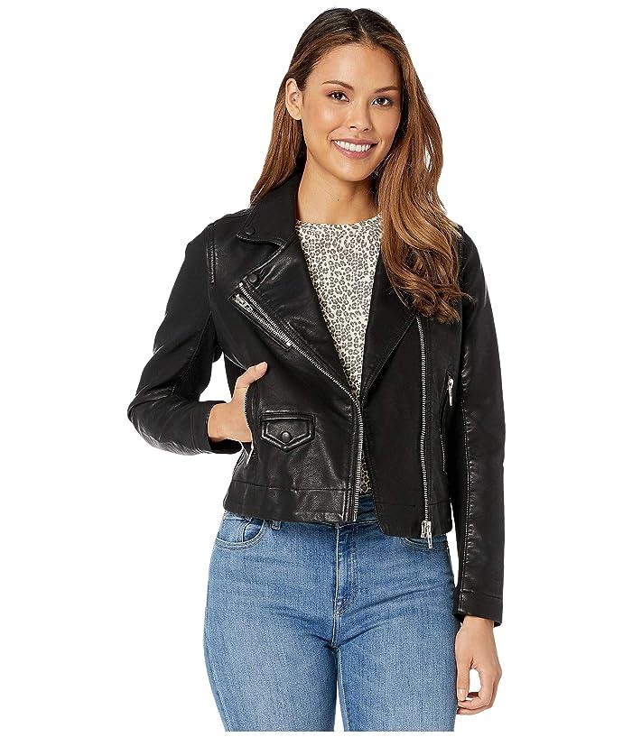 Blank NYC Faux Leather Moto Jacket (Black) Women's Coat