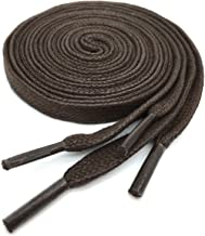 YJRVFINE 2 Pair Solid Color Shoestrings for Shoes Boots Flat Waxed Shoelaces