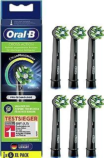 Oral-B CrossAction Black Edition końcówki do szczoteczek z włosiem CleanMaximiser do doskonałego czyszczenia, 6 sztuk