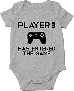 Crazy Bros Tees Player 3 Has Entered The Game Gamer Baby Funny Cute Novelty Infant One-Piece Baby Bodysuit