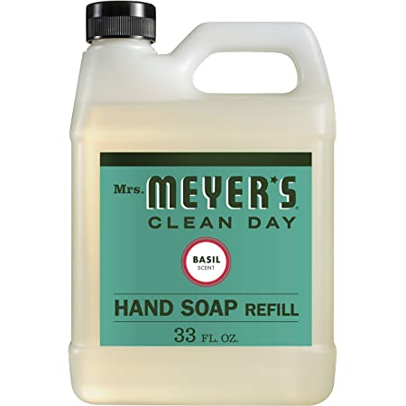 Mrs. Meyer's Clean Day Liquid Hand Soap Refill, Basil, 1 Pack
