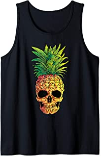 Pineapple Skull Funny Aloha Beaches Hawaiian Hawaii Goth Tank Top
