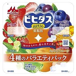 [冷蔵] 森永乳業 ビヒダスBB536 低脂肪 バラエティパックヨーグルト 75g 4個