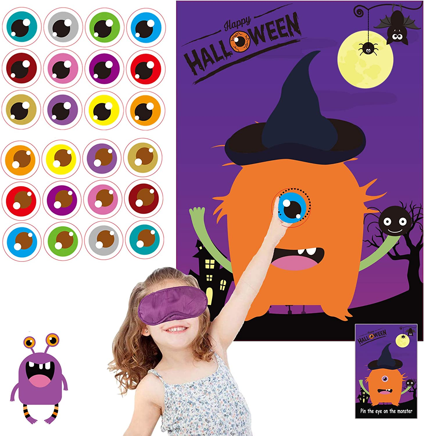 Buy Funnlot Halloween Games Halloween Party Games for Kids Pin The ...