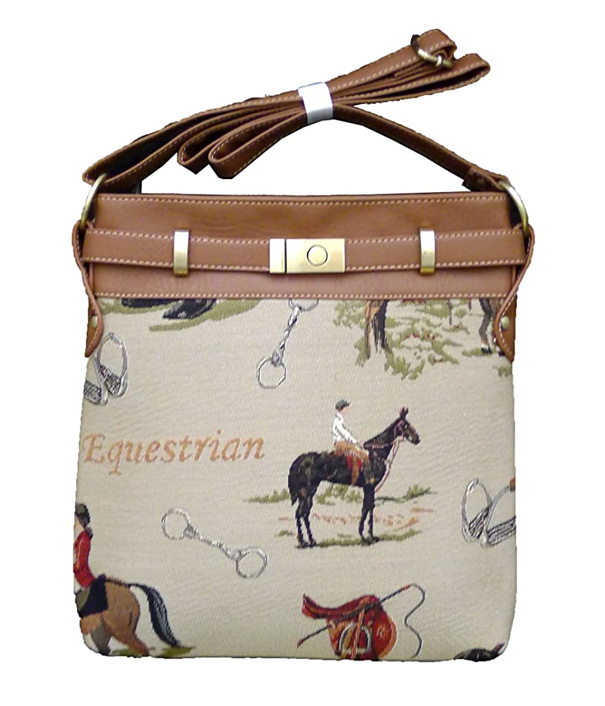 Signare 2952-Horse Horse Tapestry Shoulder Purse