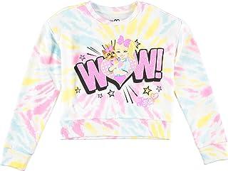 Jojo Siwa Tie Dye Sweatshirt- Emoji Wow Silver Stud Chunky Glitter Sweatshirt
