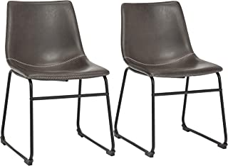 Phoenix Home PU Leather Dining Chair Set of 2, 18.11