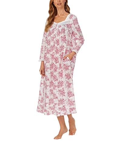 Eileen West Cotton Lawn Woven Long Sleeve Ballet Gown (Red Toile) Women
