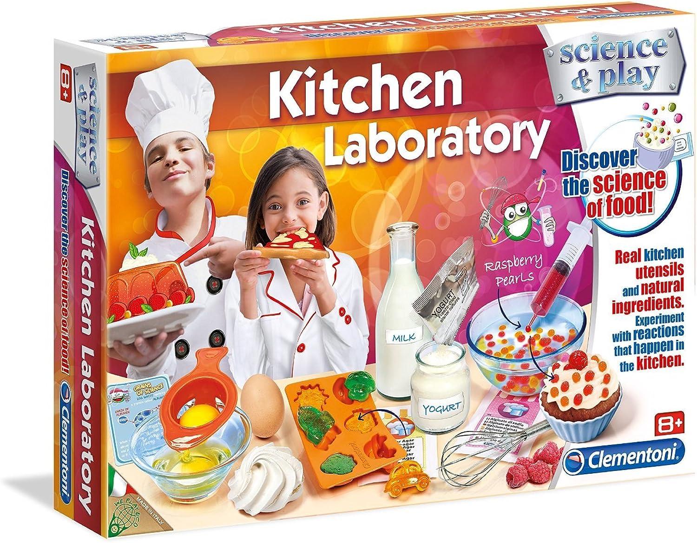 Clementoni Wissenschaft & Play Küche Labor lustig und lehrreich Speisen, Wissenschaft Set
