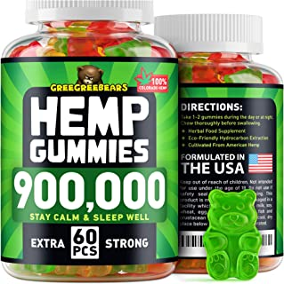Sponsored Ad - Hemp Gummies 900,000 - Calming & Relaxing - Stress & Anxiety Relief - Tasteful Mood Gummies for Immune Syst...