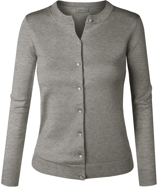 Free Shipping New BIADANI Women Popular popular Button Down Long Soft Sweat V-Neck Cardigan Sleeve