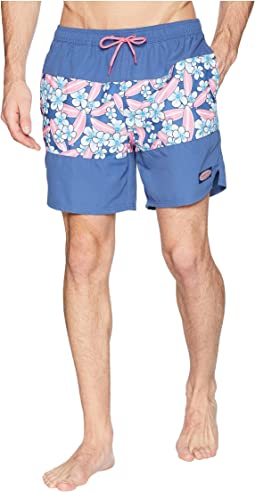 Pieced Surfboard Chappy Swim Trunks