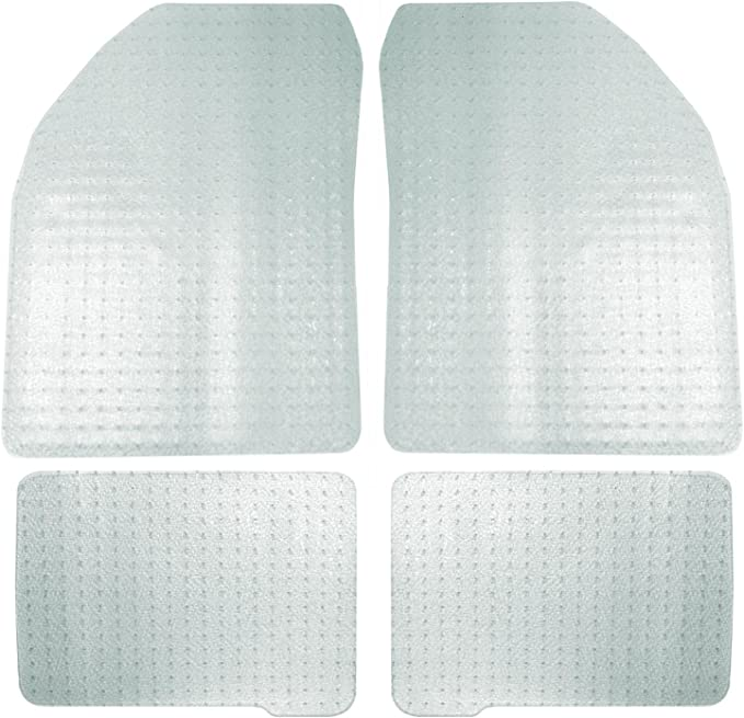 Coverking Custom Fit Front and Rear Floor Mats for Select Mercedes-Benz C-Class Models Nylon Carpet CFMBX1MD7019 Black