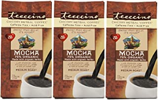 Teeccino Herbal Coffee, Mediterranean Mocha, 11 Ounce (Pack of 3)