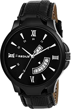 Redux Black Dial Day and Date Men's Watch RWS0228S