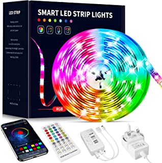 Beaeet LED Strip Lights 10m,Bluetooth APP and Remote Control Colour Changing Music Sync Strips Lights,Flexible LED Lights ...