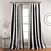Lush Decor Wilbur Room Darkening Striped Window Panel Curtains Set (Pair), 84
