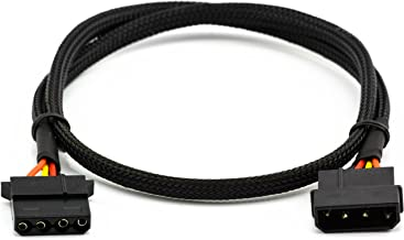 CRJ 4-Pin Molex Male to Female Extension Black Sleeved 24